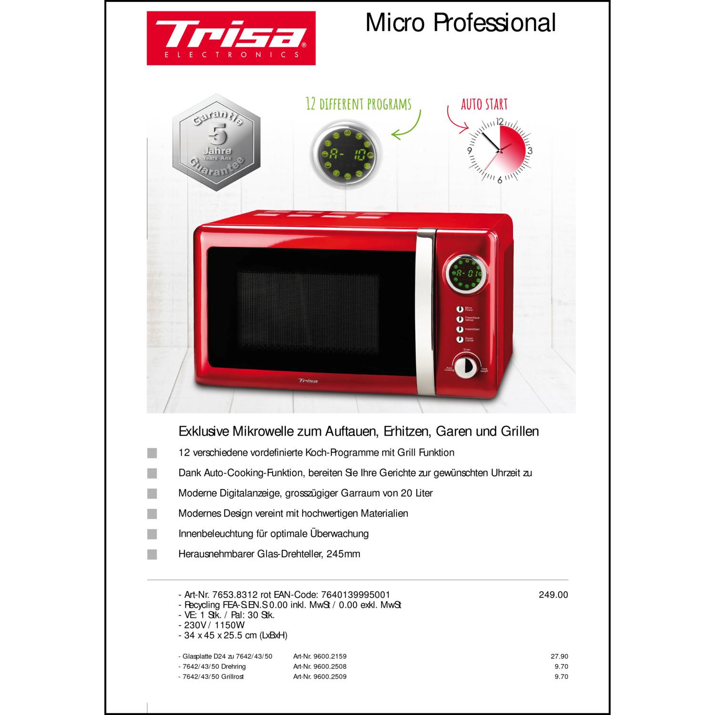 7653 8312 Trisa Mikrowelle Micro Professional 12 Programme