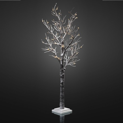567892 hellum led baum mit schnee h 120 cm mit 48 warm wei en leds festbeleuchtung. Black Bedroom Furniture Sets. Home Design Ideas