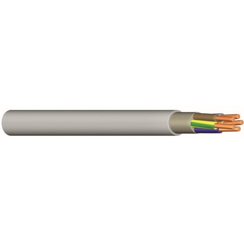 YM-J 3X4 RE grau Messlänge PVC-Mantelleitung Produktbild Front View L