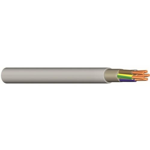 NYM-J 5X6 grau Messlänge PVC-Mantelleitung Produktbild Front View L
