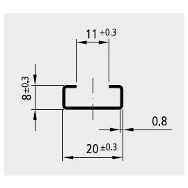 88236408 ELECTRO TERMINAL HS2-0.88 HOHLSCHIENE VERZ. UNGELOCHT Produktbild