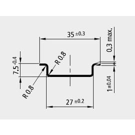 88233203 ELECTRO TERMINAL SS 35 SVZ PROFILSCHIENE NORMAL (S 1900)  UNGELOCHT Produktbild