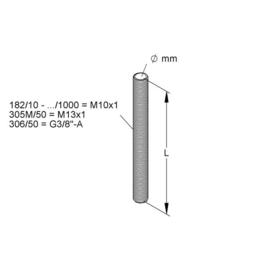 K182/30 KLEINHUIS EGALNIPPEL M10X1 30MM MESSING Produktbild