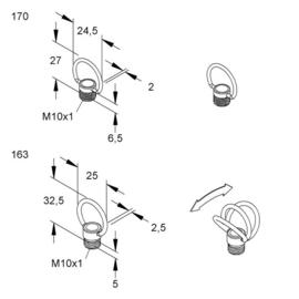 K163 KLEINHUIS RINGNIPPEL M10X1 MESSING Produktbild