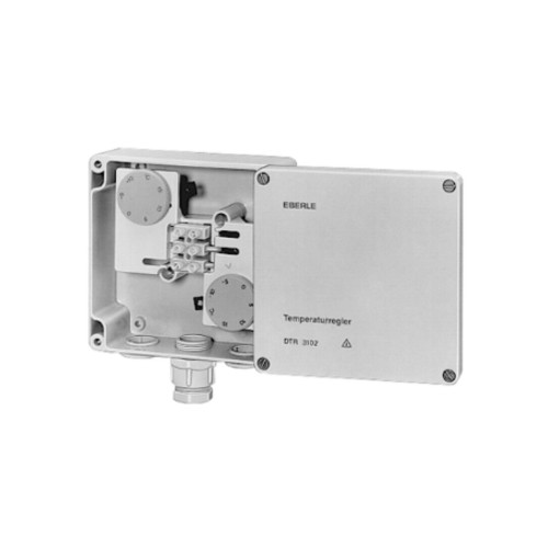 191590190900 EBERLE DTR-E3102 ECO DOPPEL THERMOSTAT ZU DACHRINNENHEIZUNG 16A IP65 Produktbild Front View L