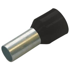 270807 HAUPA ENDHÜLSEN  1,5/8 SCHWARZ DIN 46228 isoliert Produktbild