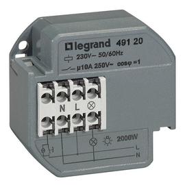 49120 LEGRAND FERNSCHALTER 10A  230VAC 1S DOSENEINBAU Produktbild