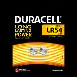 936908 DURACELL LR54/B2 KNOPFZELLEN (2 STK.BL) 1,5V SPEZIALBATTERIEN Produktbild