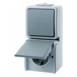 478005 BERKER WECHSEL-SCHUKO-KOMB. FR AP AQUATEC Produktbild