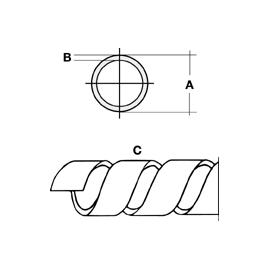 962 Bocchiotti P2 Spiralschlauch DIM 8mm I/A 4x6mm Wendeldurchmesser 5-50mm natur Produktbild