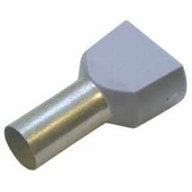 270780 HAUPA TWIN-ENDHÜLSEN 0,75/8 GRAU Produktbild