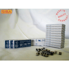 7000135.10 SIBA G-SICHERUNG 5X20 10A TRÄGE Produktbild