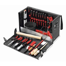 170300 CIMCO Super-Lehrlingskoffer Leder m. 23 Werkzeuge Bestück. B Produktbild