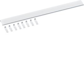 S35V HAGER BLINDSTREIFEN PLOMBIERBAR 1m lang, weiß, inkl. 8 Sicherungsklipps Produktbild