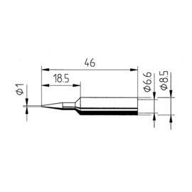 0832BD/SB Ersa ERSADUR-Lötspitze 1,0mm bleistiftspitz Produktbild