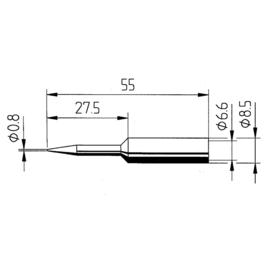 0832SD/SB Ersa ERSADUR-Lötspitze 0,8mm bleistiftspitz Produktbild