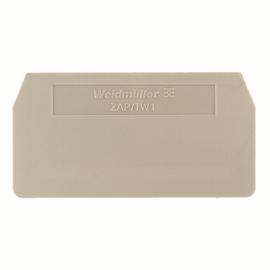 1608740000 Weidmüller ZAP/TW 1 Abschlussplatte für ZDU 2,5 beige Produktbild