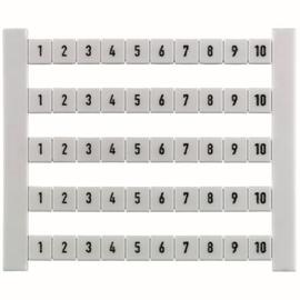 0523060001 Weidmüller DEK5 Beschriftung 1-10 fortlaufend waagerechte Zeile Produktbild