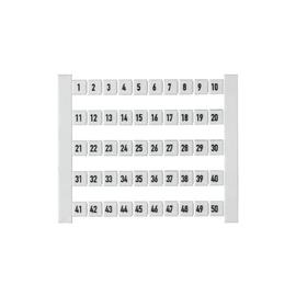 0473460001 Weidmüller DEK5 Beschriftung 1-50 fortlaufend waagerecht Produktbild