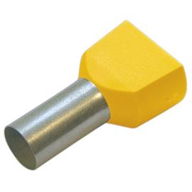 270797 HAUPA TWIN-ENDHÜLSEN 6/14 GELB isoliert Produktbild