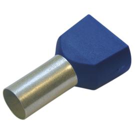 270799 HAUPA TWIN-ENDHÜLSEN 16/16 BLAU isoliert Produktbild