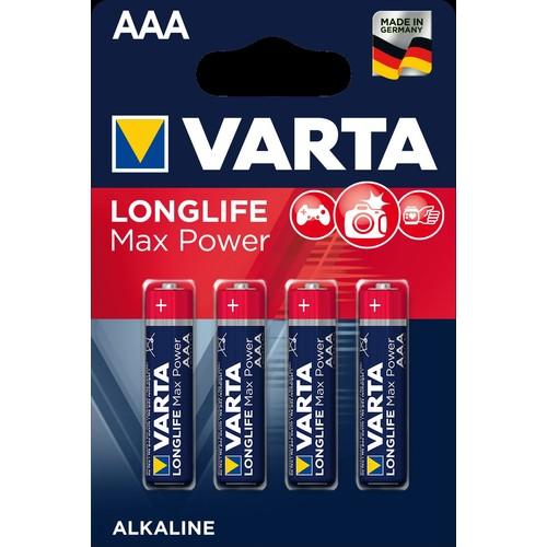 04703101404 VARTA LONGLIFE Max Power AAA Micro (4STK.-BL.) Produktbild