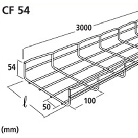 CM000091 CABLOFIL CF54/200EZ GITTERBAHN 200X54MM VERZ. Produktbild