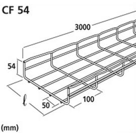 CM000101 CABLOFIL CF54/300EZ GITTERBAHN 300X54 MM VERZ. Produktbild