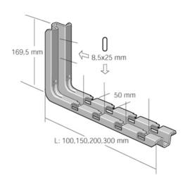 CM556130 CABLOFIL CSN300GS STIEL ODER WANDKONSOLE 300MM SENDZIMIRVERZ. Produktbild