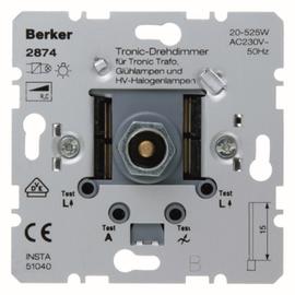 2874 BERKER DIMMER 20-525W/VA WECHSEL- EINS. TRONIC GLÜH/ELECTRONIC TRAFO Produktbild
