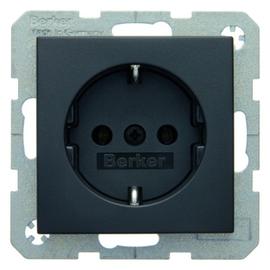 47431606 BERKER SCHUKO-STECKDOSE B1/B3 ANTHRAZIT Produktbild