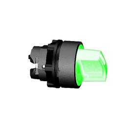 ZB5AK1233 SCHNEIDER E. LEUCHTWAHLSCH. GRÜN F.LED 2-STELL.RASTEND HARMONYSTYLE5 Produktbild