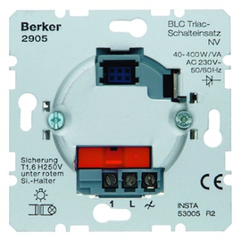 2905 BERKER BLC WÄCHTER-EINSATZ TRIAC GLÜH/HV/NV-KONV. Produktbild