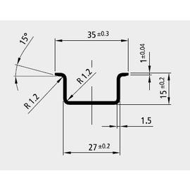 88233501 ELECTRO TERMINAL SSV 35/1,5 PROFILSCHIENE HOCH UNG Produktbild