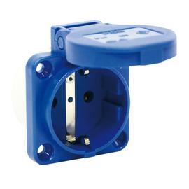 109-0B PCE MASCHINEN-SCHUKO-STECKDOSEN MIT STECKKLEMMEN blau Produktbild