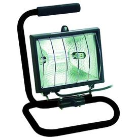 720013 BACHMANN HALOGENSTRAHLER 500W SCHWARZ M. GESTELL + KABEL Produktbild