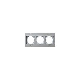 21365 GIRA RAHMEN 3-FACH FR UP TX44 ALU Produktbild
