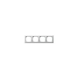 21403 GIRA RAHMEN 4-FACH STANDARD 55 REINWEISS GLÄNZEND Produktbild
