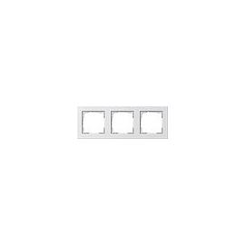 21329 GIRA RAHMEN 3-FACH E2 REINWEISS GLÄNZEND BRUCHSICHER Produktbild