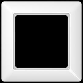 AS581WW JUNG RAHMEN 1-FACH AS500 ALPINWEISS Produktbild