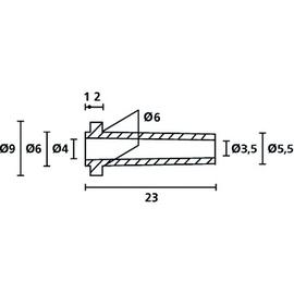 639-60000 HELLER KNICKSCHUTZ-DURCHFÜHR- UNGSTÜLLEN SET JE50 DURCHF./KNICKSCH. SW Produktbild