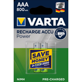 56703101402 VARTA RECHARGE ACCU Power (2STK.-BL.)800mAh Micro Produktbild