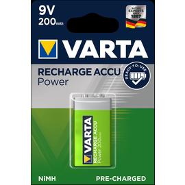 56722101401 VARTA RECHARGE ACCU Power 9V (1STK.-BL.)200mAh 9V Produktbild
