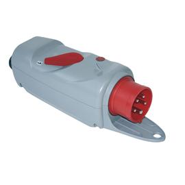 537151003 PCE CEE MOTORSCHUTZSTECKER 5/16 DFK 6,3-10A Phasenwender mit Bügel Produktbild
