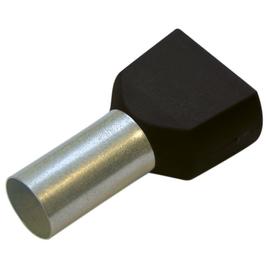 270790 HAUPA TWIN-ENDHÜLSEN 1,5/12 SCHWARZ isoliert Produktbild
