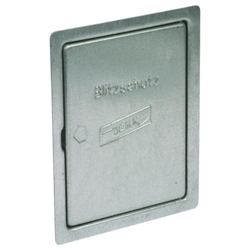 476100 DEHN REVISIONSTÜR ST/TZN,M. SCHNAPP-. VERSCHL 230X180,F.UP-TRENNSTE. Produktbild Front View L