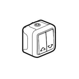 69758 LEGRAND FR AP JALOUSIESCHALTER 1-POLIG ULTRAWEISS PLEXO IP55 Produktbild