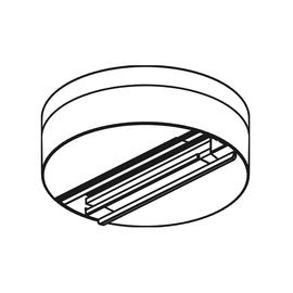 208-19121701 MOLTO LUCE NOA DECKEN U. WANDAUSLASS 3-PHASEN GRAU Produktbild