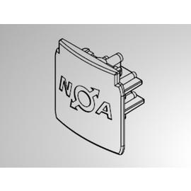208-19170412 MOLTO LUCE NOA ENDKAPPE XTS 41-2 3-PHASEN SCHWARZ Produktbild