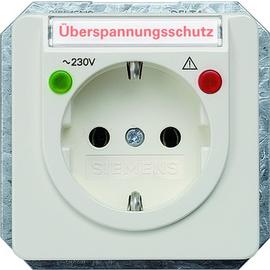 5UB1486 SIEMENS UP-SCHUKO-STECKDOSE M. ÜBERSPANNUNGSSCH. SCHRIFTF.TITANWS,DELTA Produktbild